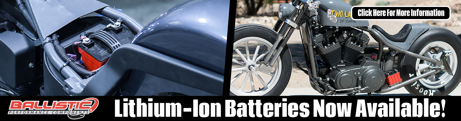 Ballistic Lithium-Ion Batteries for V-Twins